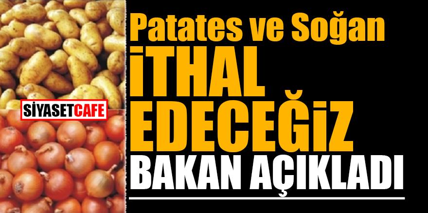 Patates ve soğan ithal edeceğiz! Bakan açıkladı