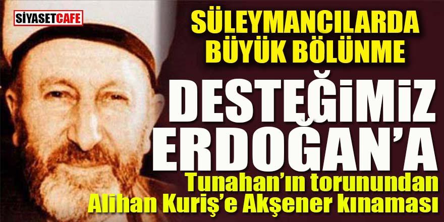 Sülemancılar'da Erdoğan bölünmesi!