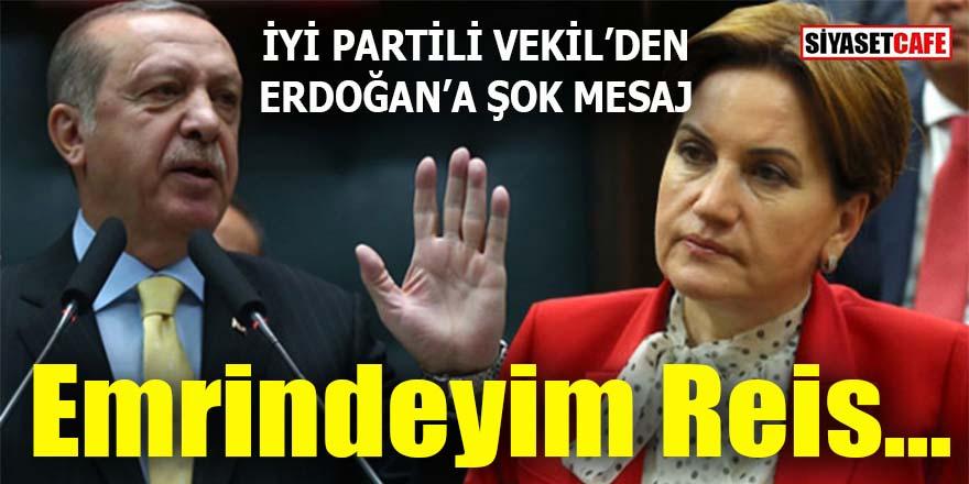 "Erdoğan'a ""Emrindeyim Reis"" diyen İYİ Partili vekil kim?"