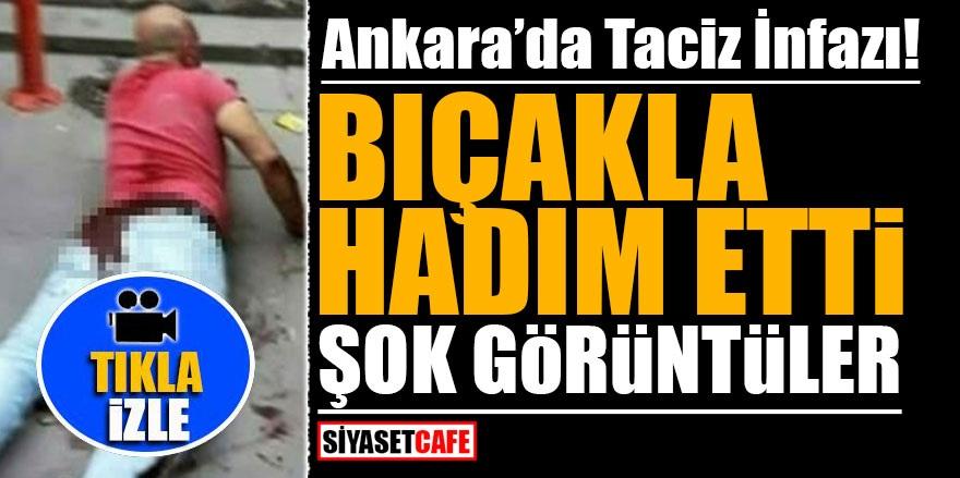 Ankara'da taciz infazı! Bıçakla hadım etti! ŞOK görüntüler