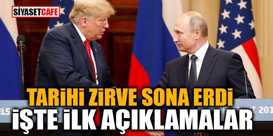 Putin – Trump görüşmesi sona erdi! İşte ilk açıklamalar