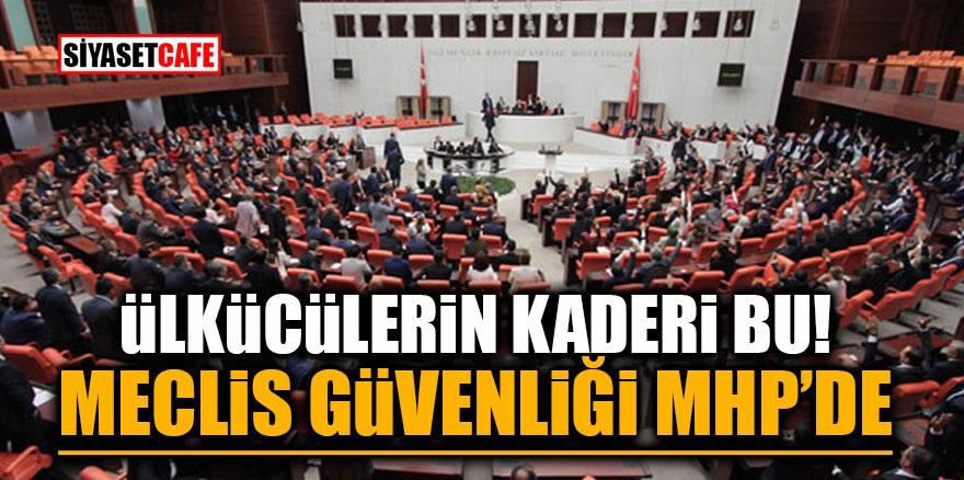 Ülkücülerin kaderi bu! Meclis güvenliği MHP'de