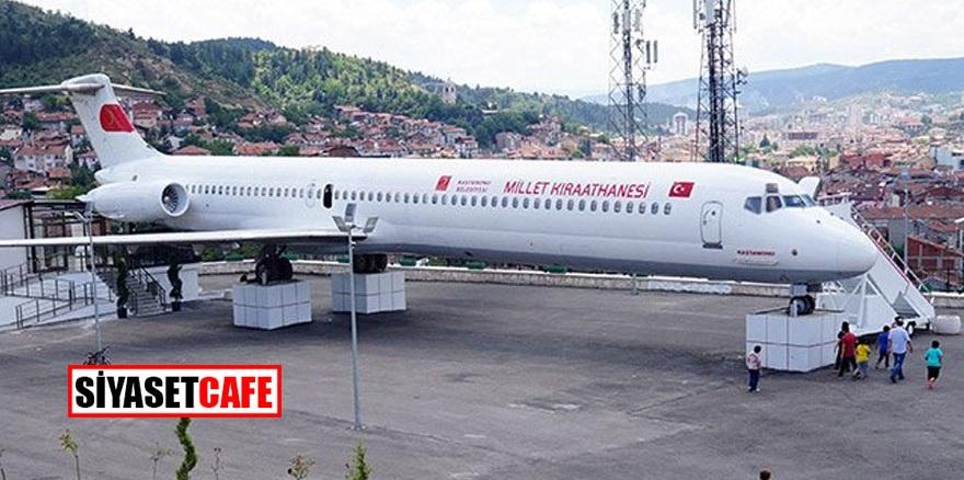 Uçak 'Millet Kıraathanesine' dönüştürüldü
