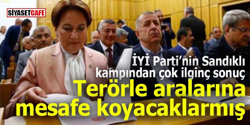İYİ Parti'nin Sandıklı kampından çok ilginç sonuç: Terörle aralarına mesafe koyacaklarmış!