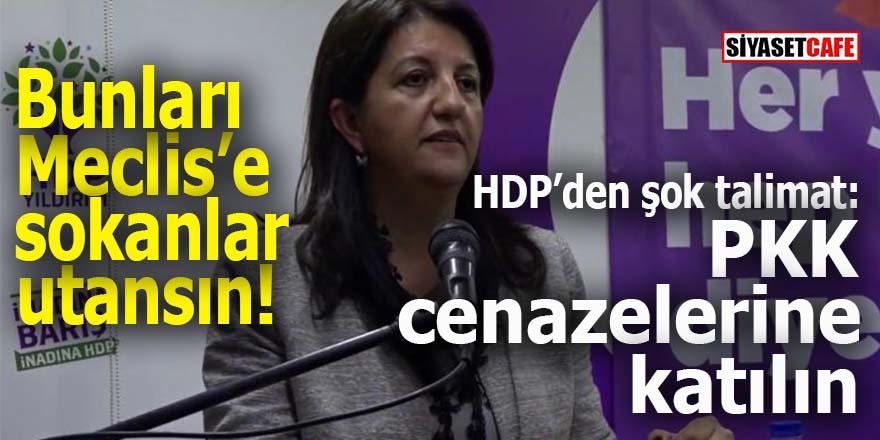 HDP'den şok talimat: PKK cenazelerine katılın!