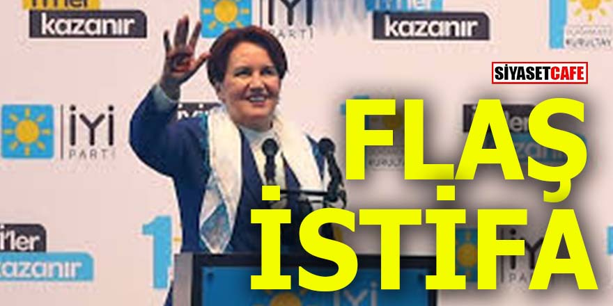 İYİ Parti'den flaş istifa