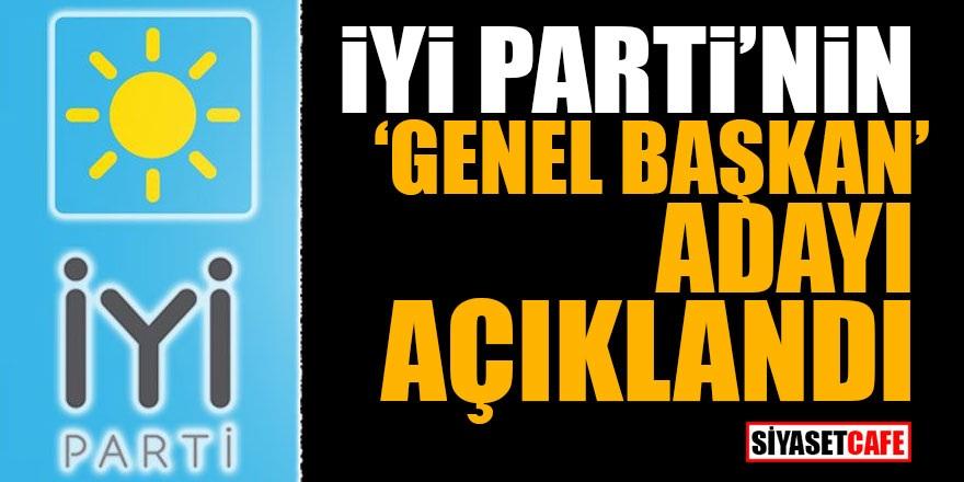 İYİ Parti'nin 'Genel Başkan' adayı açıklandı