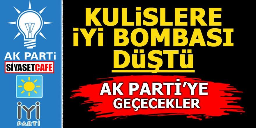 Kulislere İYİ bombası düştü! AK Parti'ye geçecekler