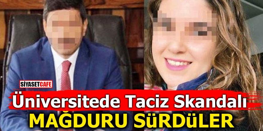 Selçuk Üniversitesi'nde taciz skandalı! Mağduru sürdüler