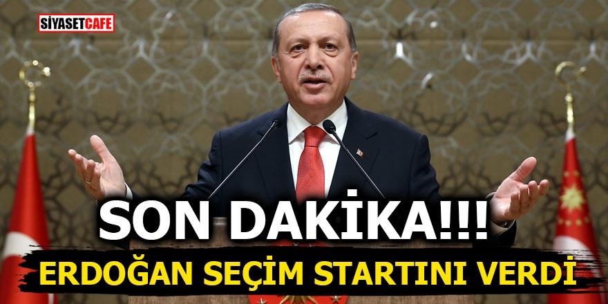 Erdoğan seçim startını verdi
