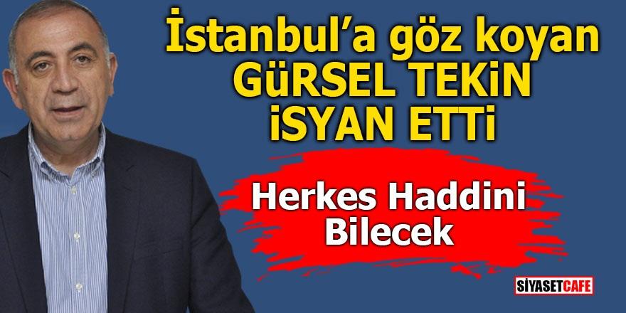 İstanbul'a göz koyan Gürsel Tekin isyan etti! Herkes haddini bilecek