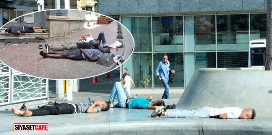 Taksim'de şok görüntü!