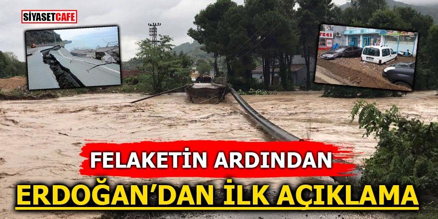 Ordu'daki sel felaketinin ardından Erdoğan'dan flaş açıklama