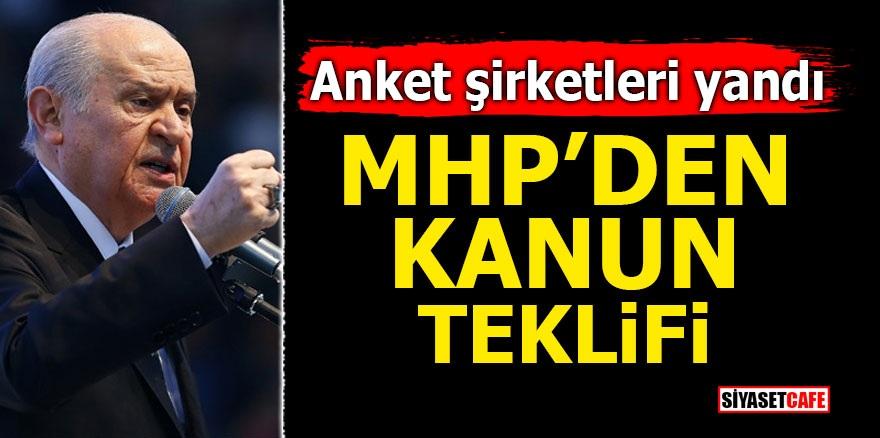 Anket şirketleri yandı! MHP'den kanun teklifi