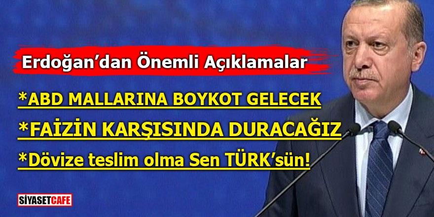 Erdoğan açıkladı! ABD'ye boykot