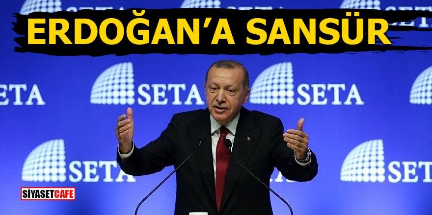 Erdoğan'a sansür