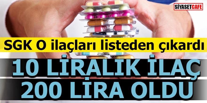 SGK o ilaçları listeden çıkardı!