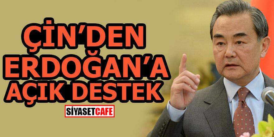 Çin'den Erdoğan'a açık destek!
