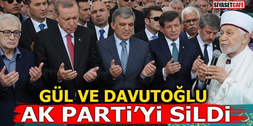 Gül ve Davutoğlu Ak Parti'yi sildi