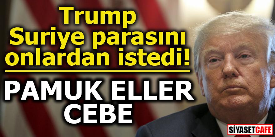 Trump Suriye parasını onlardan istedi! PAMUK ELLER CEBE