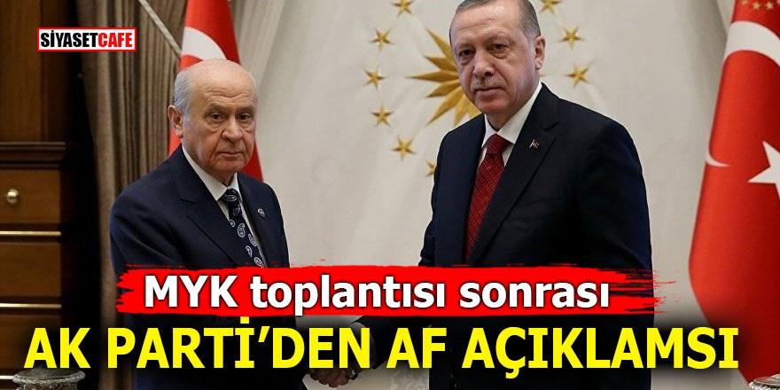 MYK toplantısı sonrası Ak Parti'den 'AF' açıklaması