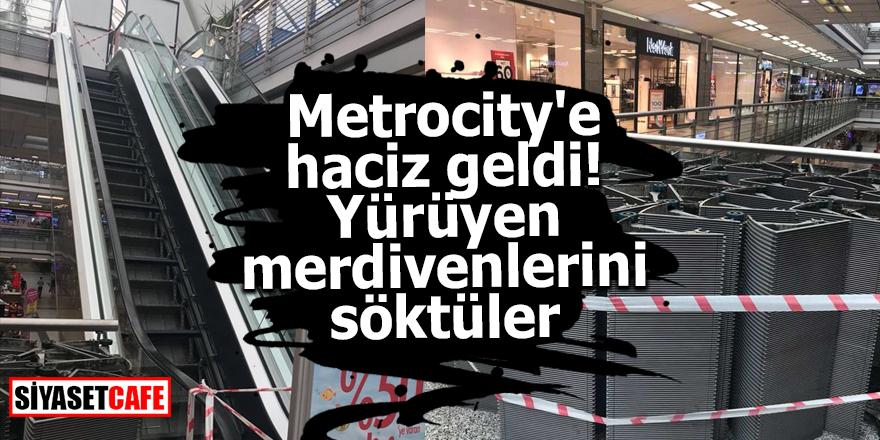 Metrocity'e haciz geldi! Yürüyen merdivenlerini söktüler