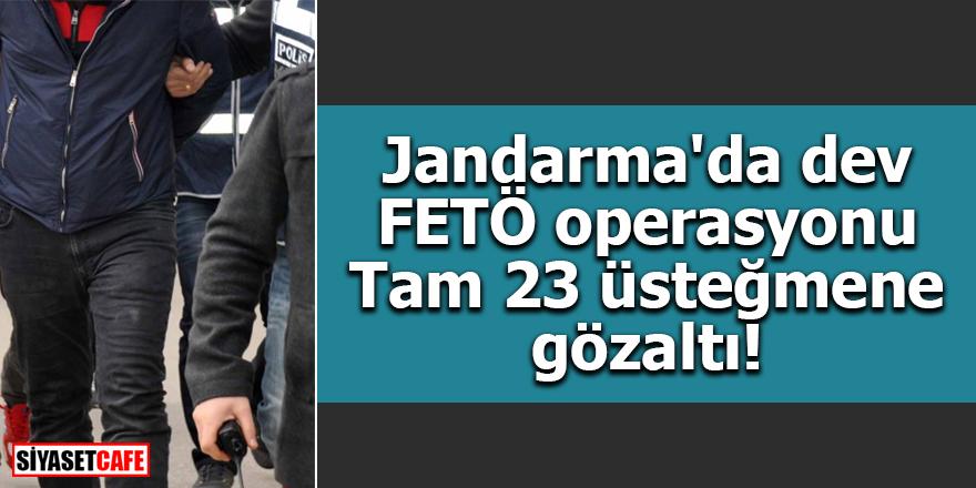 Jandarma'da dev FETÖ operasyonu Tam 23 üsteğmene gözaltı