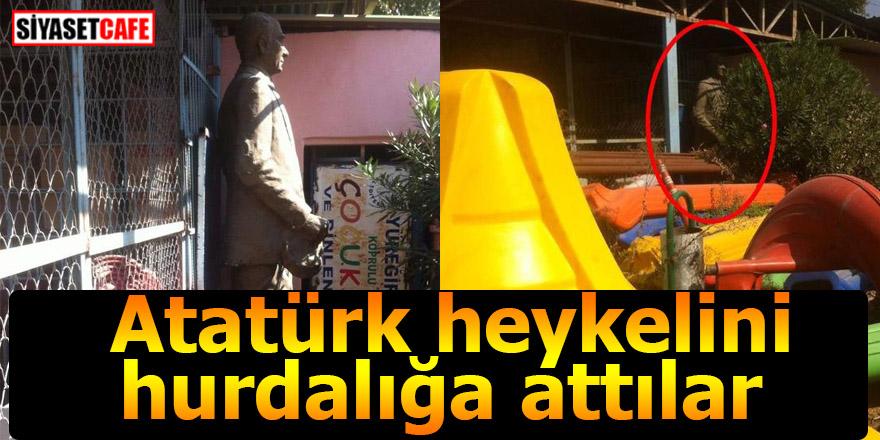 Skandal: Atatürk heykelini hurdalığa attılar