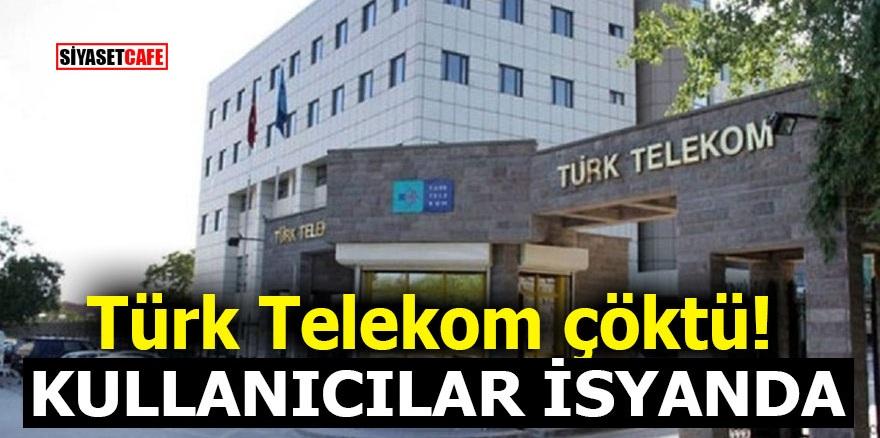 Türk Telekom çöktü! Kullanıcılar isyanda