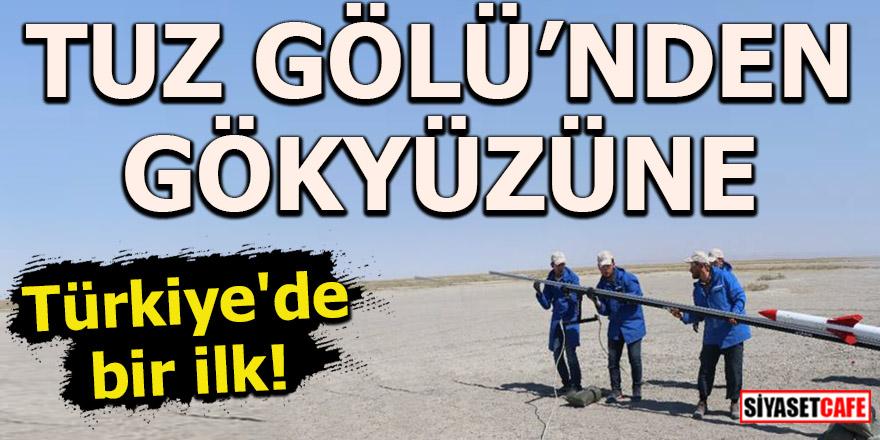 Türkiye'de bir ilk! Tuz Gölü'nde roket yarışları nefes kesti
