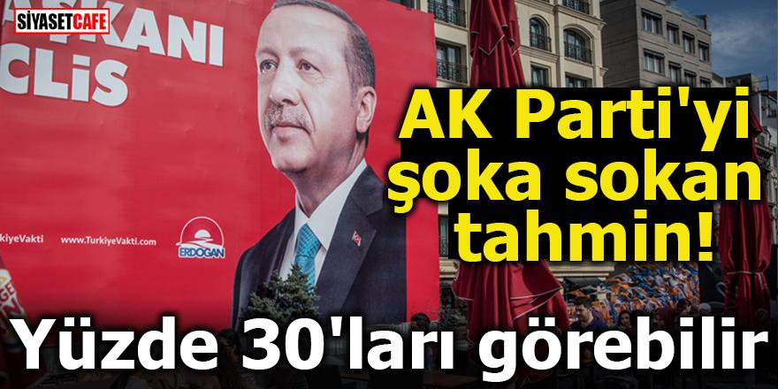 AK Parti'yi şoka sokan tahmin! Yüzde 30'ları görebilir