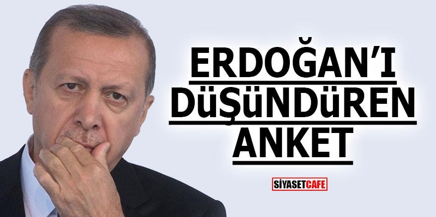 Erdoğan'ı düşündüren anket