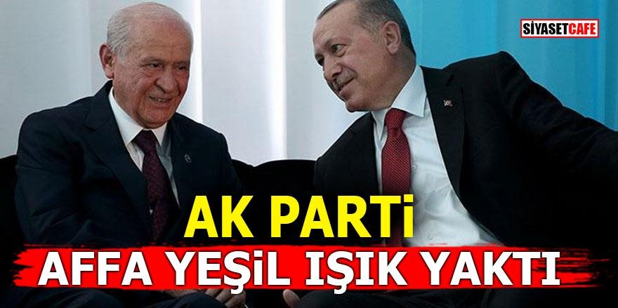 AK Parti affa yeşil ışık yaktı!