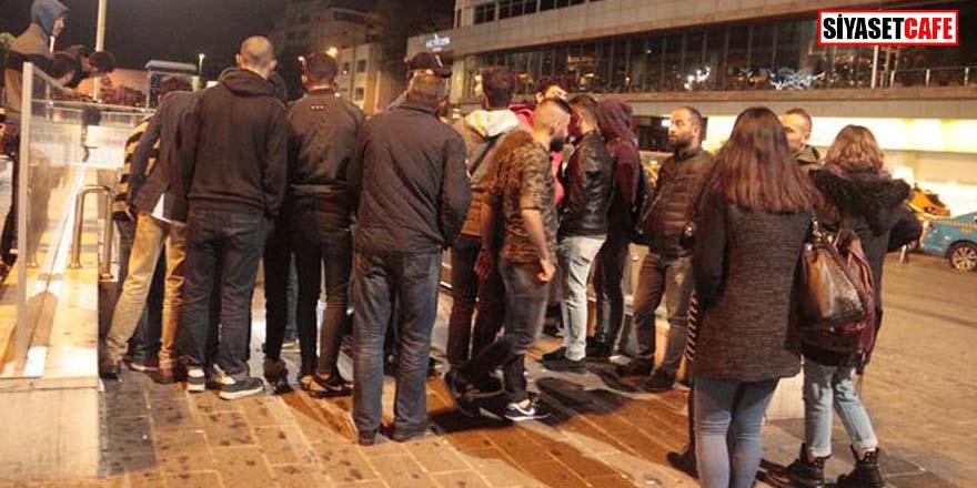 Taksim Metro girişinde  korkunç olay! Görenler şoke oldu...