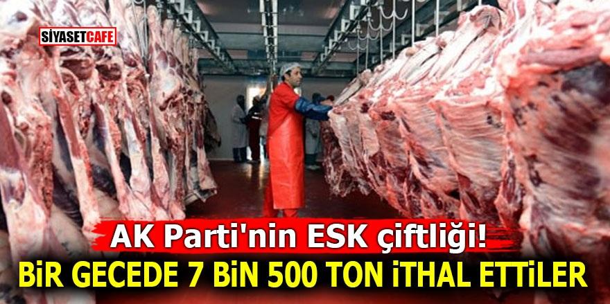 AK Parti'nin ESK çiftliği! Bir gecede 7 bin 500 ton ithal ettiler