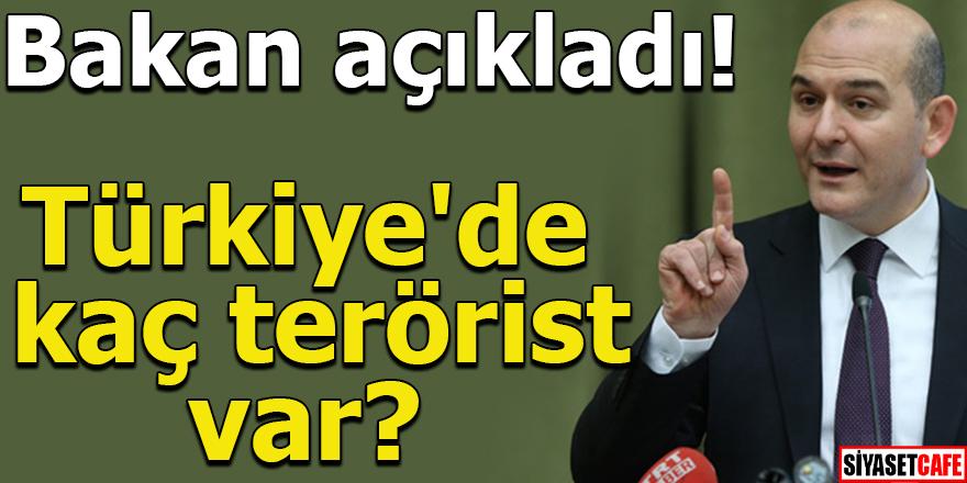 Türkiye'de kaç terörist var? Bakan açıkladı