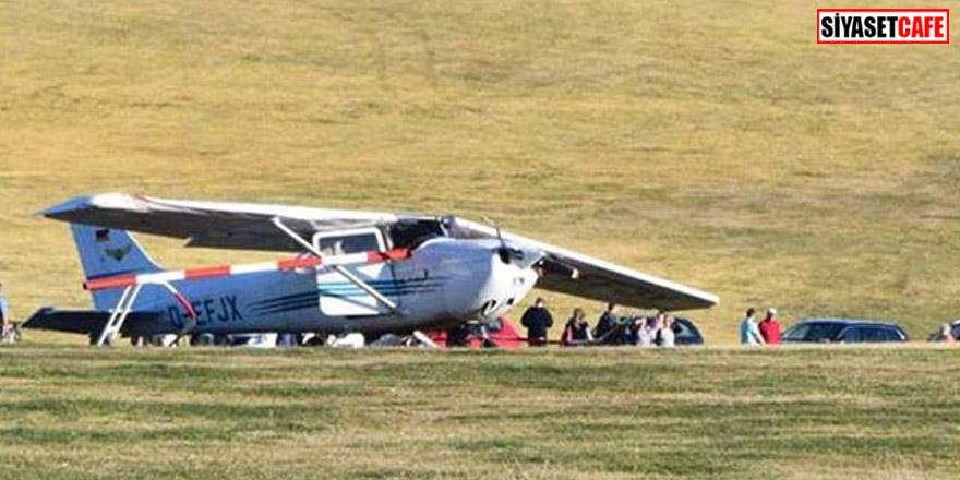 Kalabalığın üzerine uçak düştü! Ölü ve yaralılar var