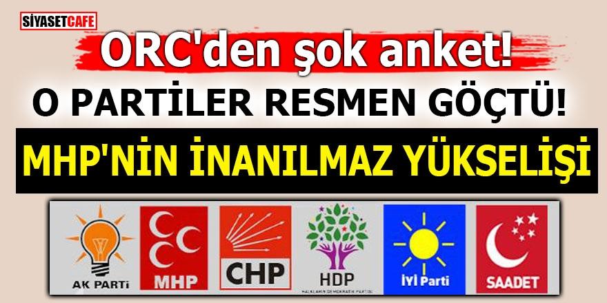ORC'den şok anket! O partiler resmen göçtü! MHP'nin inanılmaz yükselişi