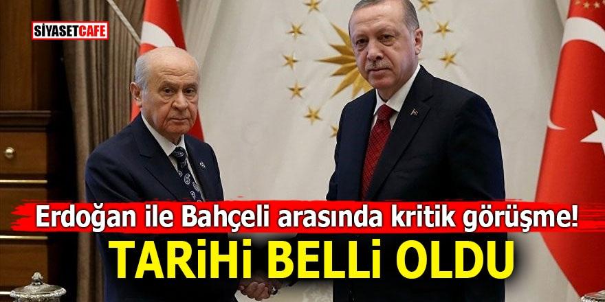 Erdoğan ile Bahçeli arasında kritik görüşme! Tarihi belli oldu