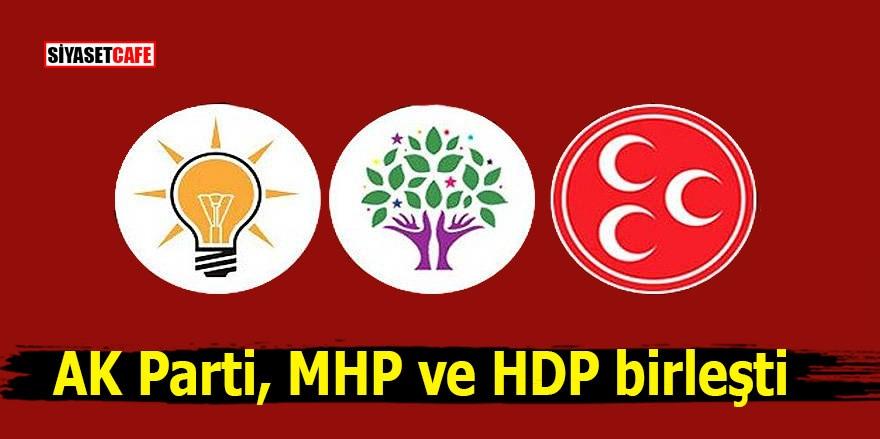 AK Parti, MHP ve HDP birleşti