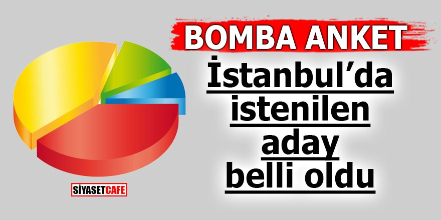 Bomba Anket! İstanbul'da istenilen aday belli oldu