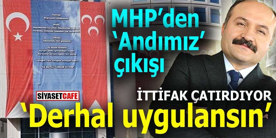 MHP'den andımız çıkışı: Bir an önce uygulanmalı