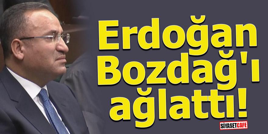 Erdoğan Bozdağ'ı ağlattı!