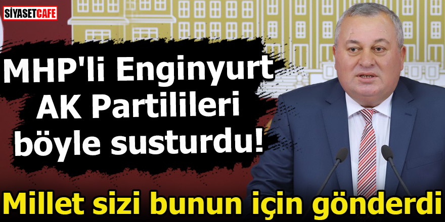 MHP'li Enginyurt AK Partilileri böyle susturdu! Millet sizi bunun için gönderdi