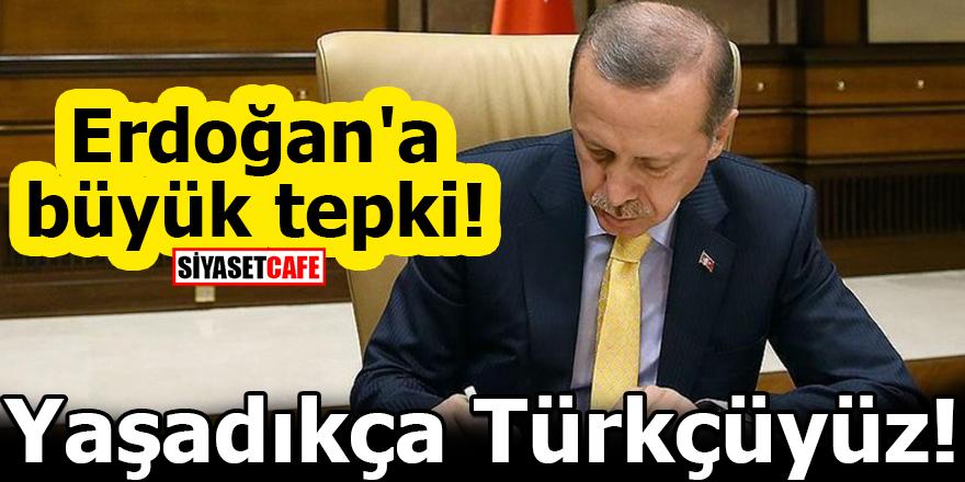 Erdoğan'a büyük tepki! Yaşadıkça Türkçüyüz