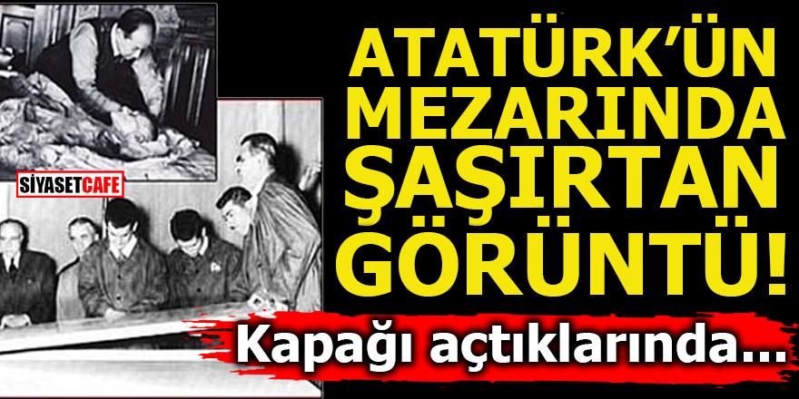 Atatürk'ün mezarında şaşırtan görüntü! Kapağı açtıklarında...