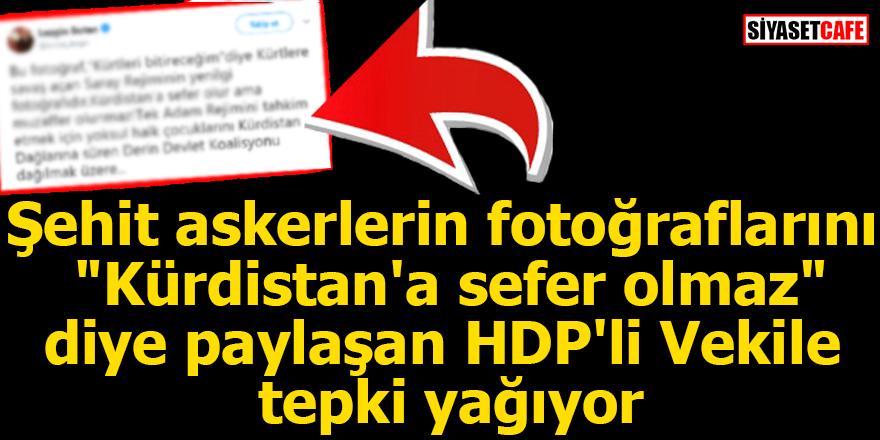 HDP'li vekil şehit askerlerin fotoğraflarını 'Kürdistan'a sefer olmaz' diye paylaştı!