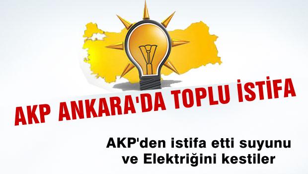 Ankara'da AKP istifaları
