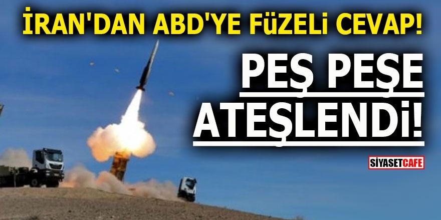 İran'dan ABD'ye füzeli cevap! Peş peşe ateşlendi