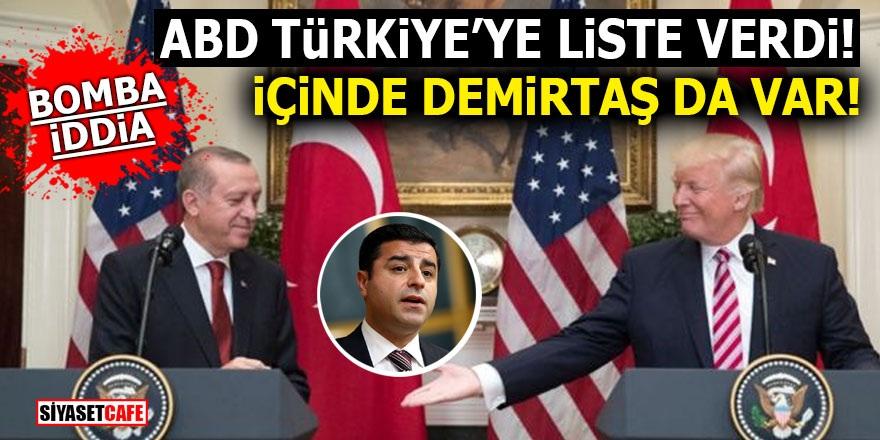 ABD Türkiye'ye liste verdi! İçinde Demirtaş da var